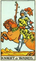 KNIGHT OF WANDS Card