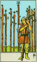 NINE OF WANDS Card
