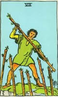 SEVEN OF WANDS Card