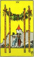 FOUR OF WANDS Card