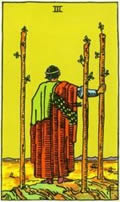 THREE OF WANDS Card