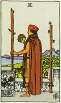 TWO OF WANDS Card