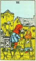 SIX OF CUPS Card