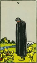 FIVE OF CUPS Card