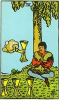 FOUR OF CUPS Card