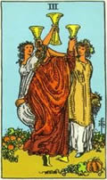 THREE OF CUPS Card