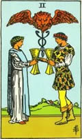 TWO OF CUPS Card