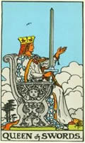 QUEEN OF SWORDS Card