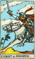 KNIGHT OF SWORDS Card