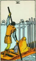 SIX OF SWORDS Card