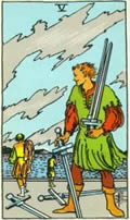 FIVE OF SWORDS Card