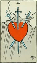 THREE OF SWORDS Card