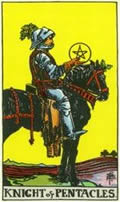 KNIGHT OF PENTACLES Card