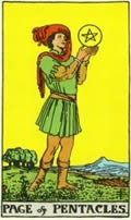 PAGE OF PENTACLES Card
