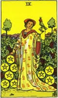 NINE OF PENTACLES Card