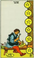 EIGHT OF PENTACLES Card