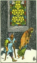 FIVE OF PENTACLES Card