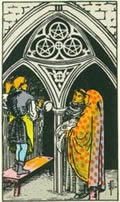 THREE OF PENTACLES tarot card
