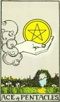 ACE OF PENTACLES Card